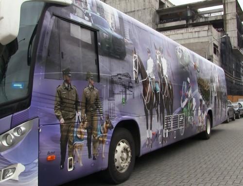 Bus Multipropósito de Carabineros en Coronel