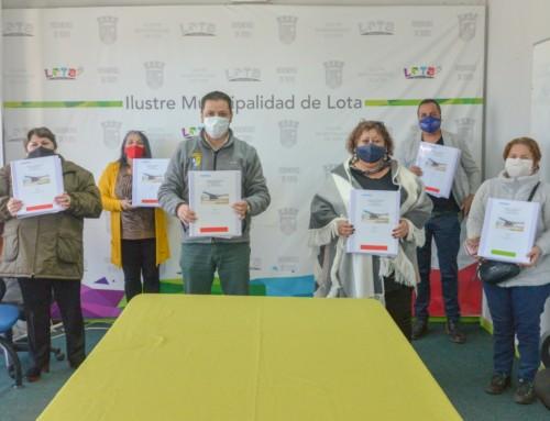 Se realizó firma de proyecto definitivo de loteo y edificación de sector Fuerte Viejo en Lota