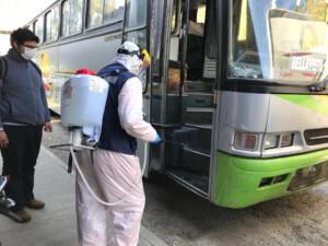 01.Sanitización Buses de traslado trabajadores